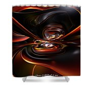 Abstract Lava Flow Fx  Shower Curtain
