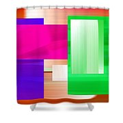 Abstract Number Three Shower Curtain