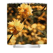 Abstract Of Yellow Flowers Shower Curtain