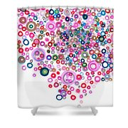Abstract Pattern Valentine Shower Curtain