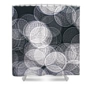 Abstract Photo Of Light Reflecting Shower Curtain