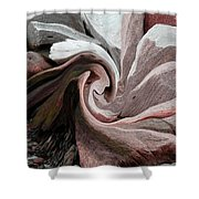 Abstract Pink Shower Curtain