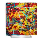 Abstract Pizza 1 Shower Curtain
