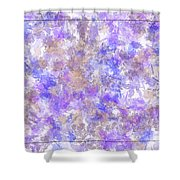 Abstract Purple Splatters Shower Curtain