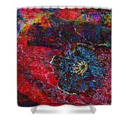 Abstract Red Poppy Shower Curtain