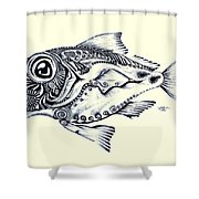 Abstract Redfish Shower Curtain