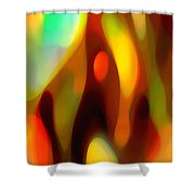 Abstract Rising Up Shower Curtain
