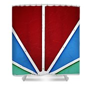 Abstract Sign Shower Curtain