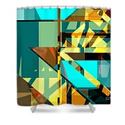 Abstract Sin 24 Shower Curtain