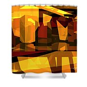 Abstract Sin 27 Shower Curtain