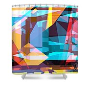 Abstract Sin 28 Shower Curtain