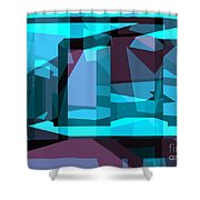 Abstract Sin 29 Shower Curtain
