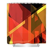 Abstract Sin 31 Shower Curtain