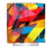 Abstract Sine L 14 Shower Curtain