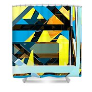 Abstract Sine L 15 Shower Curtain