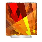 Abstract Sine L 17 Shower Curtain