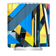 Abstract Sine L 18 Shower Curtain
