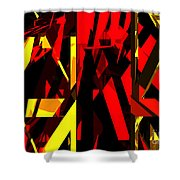 Abstract Sine L 20 Shower Curtain