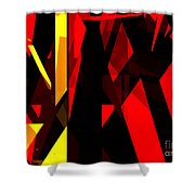 Abstract Sine L 21 Shower Curtain