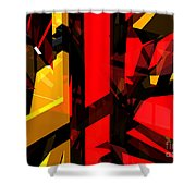 Abstract Sine L 5 Shower Curtain