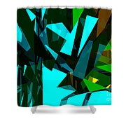 Abstract Sine L 7 Shower Curtain