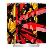 Abstract Sine P 3 Shower Curtain