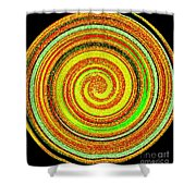 Abstract Spiral Shower Curtain