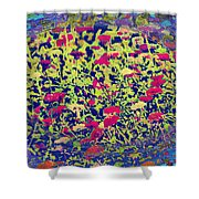 Abstract Spring Shower Curtain