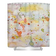 Abstract Summer Sky Watercolor Painting Shower Curtain