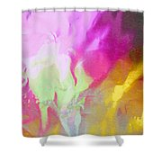 Abstract Summer's Bounty Shower Curtain