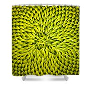 Abstract Sunflower Pattern Shower Curtain