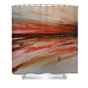 Abstract Sunset II Shower Curtain