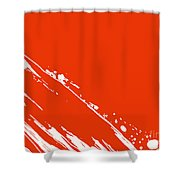 Abstract Swipe Shower Curtain