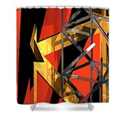 Abstract Tan 1 Shower Curtain