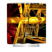 Abstract Tan 12 Imaginary Engine Shower Curtain