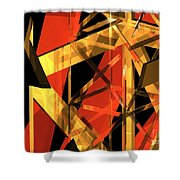 Abstract Tan 2 Shower Curtain