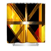 Abstract Tan 3 Shower Curtain