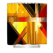 Abstract Tan 5 Shower Curtain