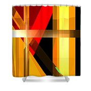 Abstract Tan 6 Shower Curtain