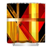 Abstract Tan 7 Shower Curtain
