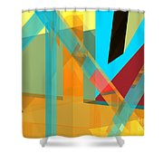 Abstract Tan 8 Shower Curtain