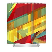 Abstract Tan 9 Shower Curtain