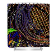 Abstract Textures Shower Curtain