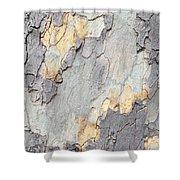Abstract Tree Bark II Shower Curtain
