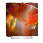 Abstract Under Glass Shower Curtain