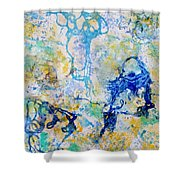 Abstract Under Water Shower Curtain