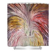 Abstract Vase And Energy Mouvement Shower Curtain