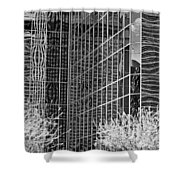 Abstract Walls Black And White Shower Curtain