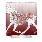 Abstract Wild Running Horse  Shower Curtain