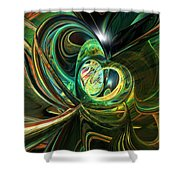 Abstracted Love Fx  Shower Curtain